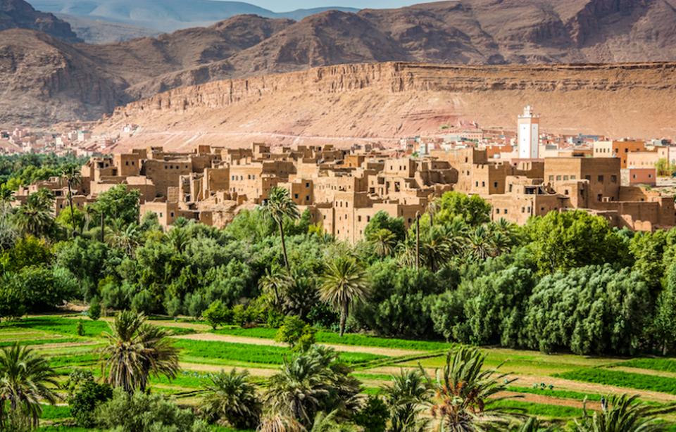 Природный пейзаж Марокко.