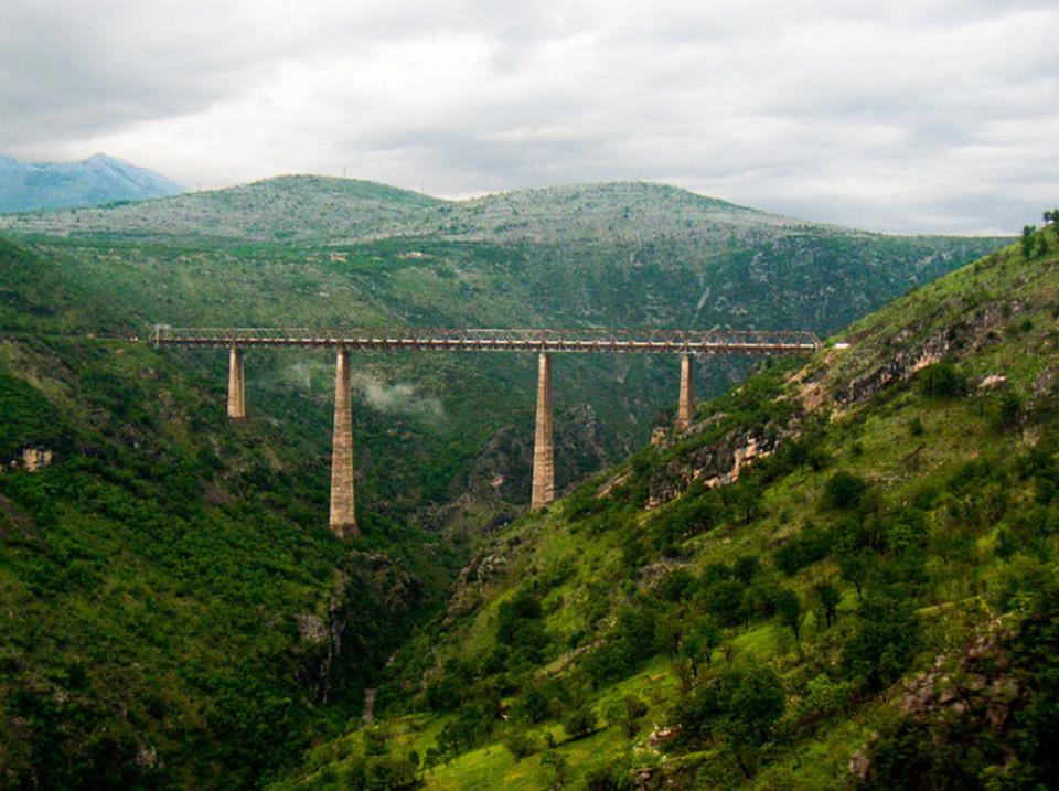 Балканский железнодорожный маршрут Белград-Бар